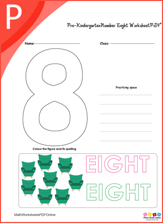 Number Eight Worksheet PDF