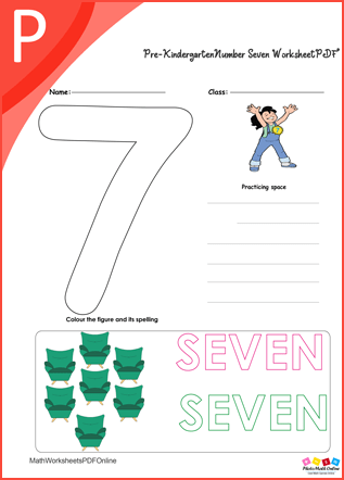 Number Seven Worksheet PDF