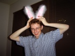 Your author with bunny ears