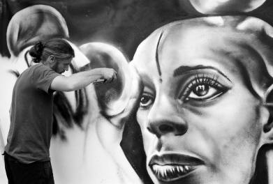 Alberto Grifantini, Street art sul Naviglio