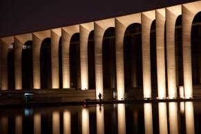 Fabrizio Crippa, Inaugurazione della nuova illuminazione permanente del palazzo, sede Mondadori, progettato da Oscar Niemeyer 02