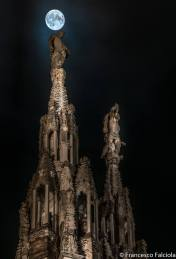 guglie del duomo e luna