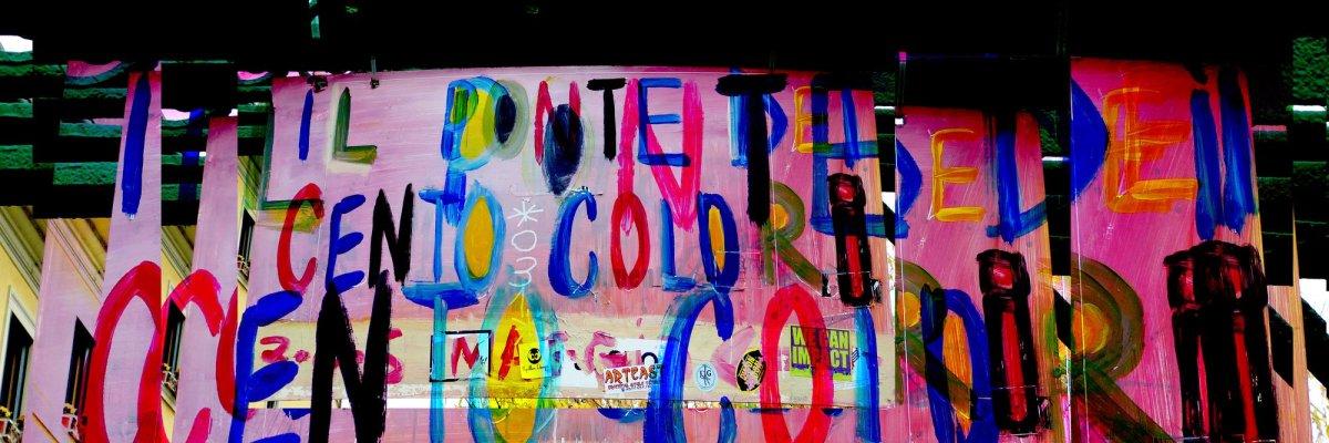 Milano, Porta Genova, Il ponte dei 100 colori - di Giovanni Paolini