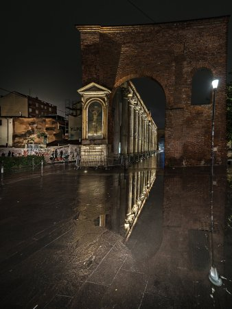 Ticinese Carrobbio Cinque Vie - Colonne di San Lorenzo, Francesco Falciola, Foto finalista del Premio Arte 2018