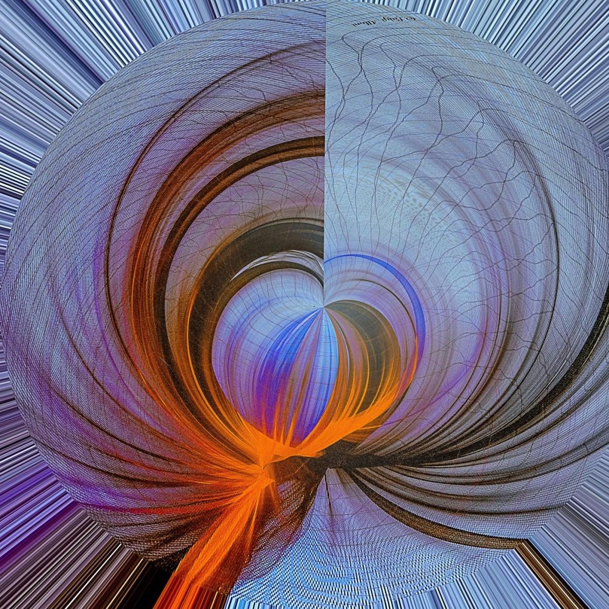 Luigi Alloni, le imperscrutabili vie della mente - da un velo colorato appeso a un muro della Statale di Milano