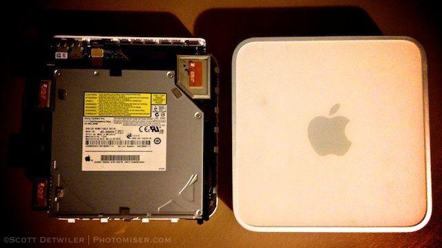 Mac Mini, cover removed