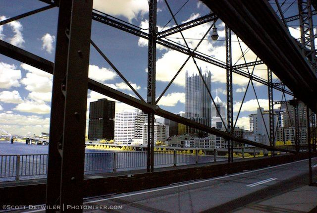 Pittsburgh from Smithfield Bridge IR
