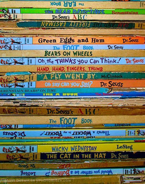 Stack of Dr. Seuss Easy Reader Books