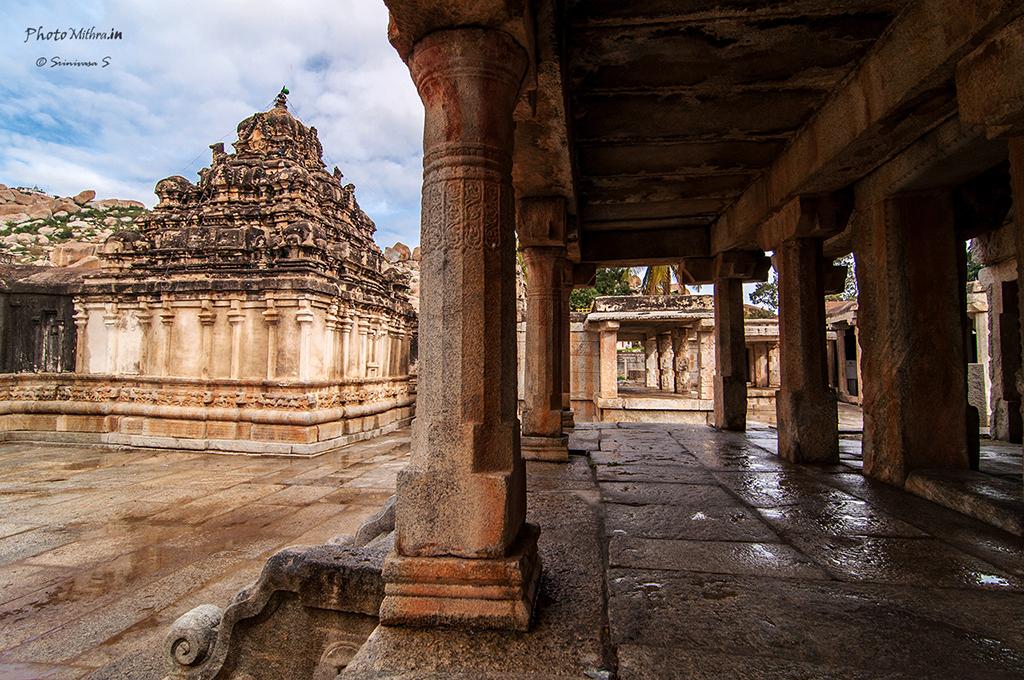 Ramalingeshwara temple viewed from the Kalyana mantapa opposite to it