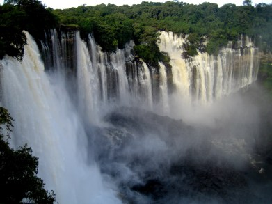 Kalandula waterfalls of the Lucala River in Malange Angola