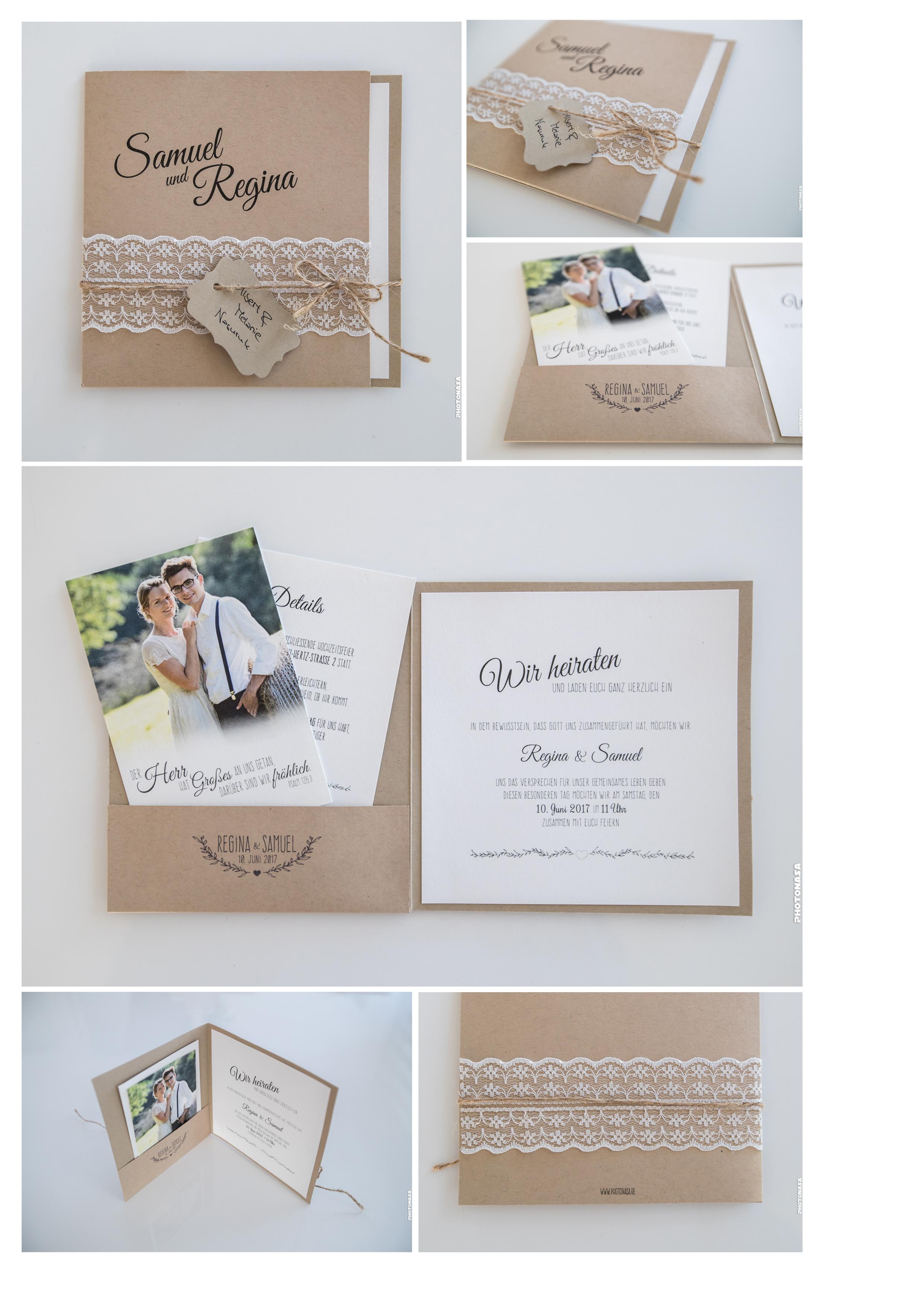 Hochzeitseinladung  Dankeskarten  Photonasa Photography