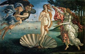 Botticelli's Birth of Venus, in the Uffizi, Florence