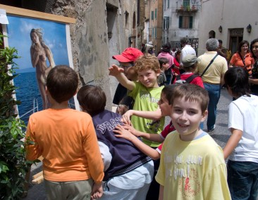 Outside the gallery in Orvieto