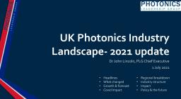 UK photonics 2021 update