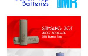 Samsung 30T 21700 button top