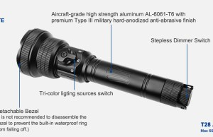 brinyte t28 hunting light with rotary