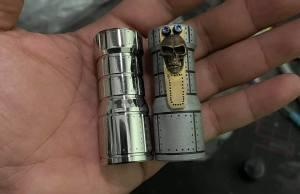 phongtep 18350 twisty with custom metalwork titanium