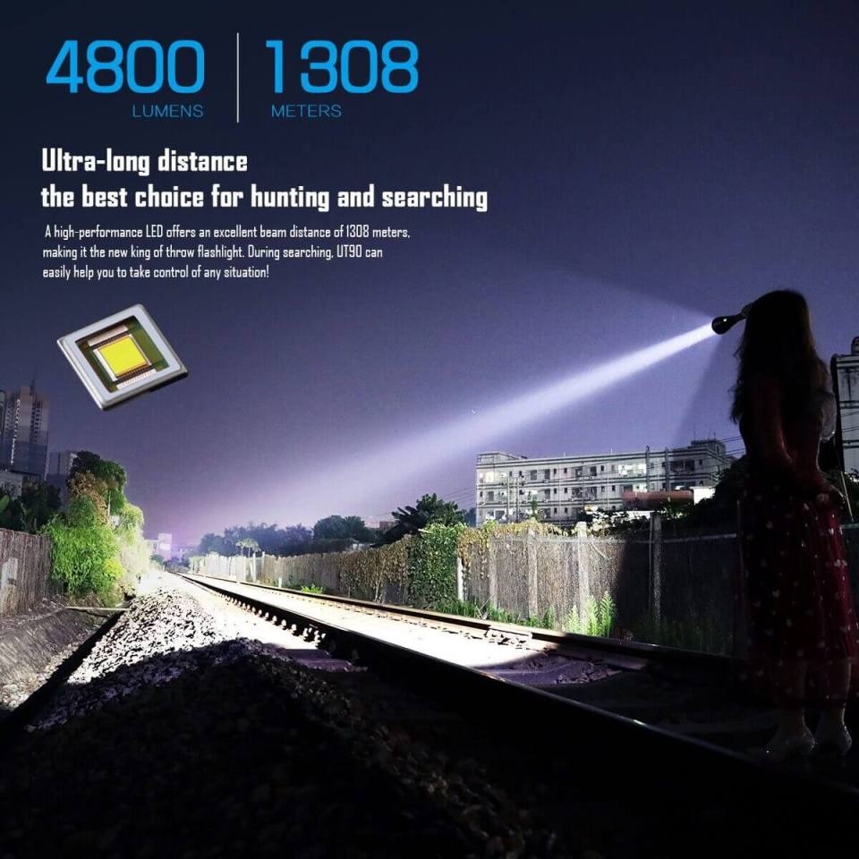 imalent ut90 luminus sbt-90 hunting flashlight emitter info