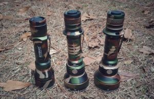 acebeam flashlights with camouflaged camo anodizing