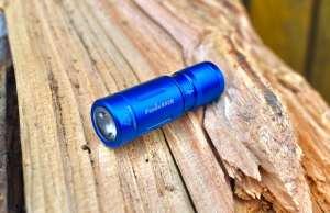fenix e02r keychain flashlight in blue