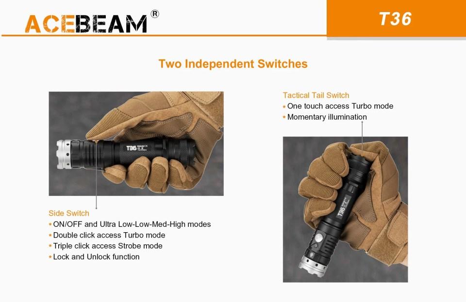 acebeam t36 switches