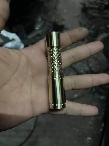 Mr. Tube brass small clicky custom flashlight