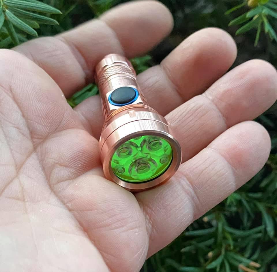 Lumintop GT Nano keychain flashlight in copper modded into a triple by Jeffery Morris