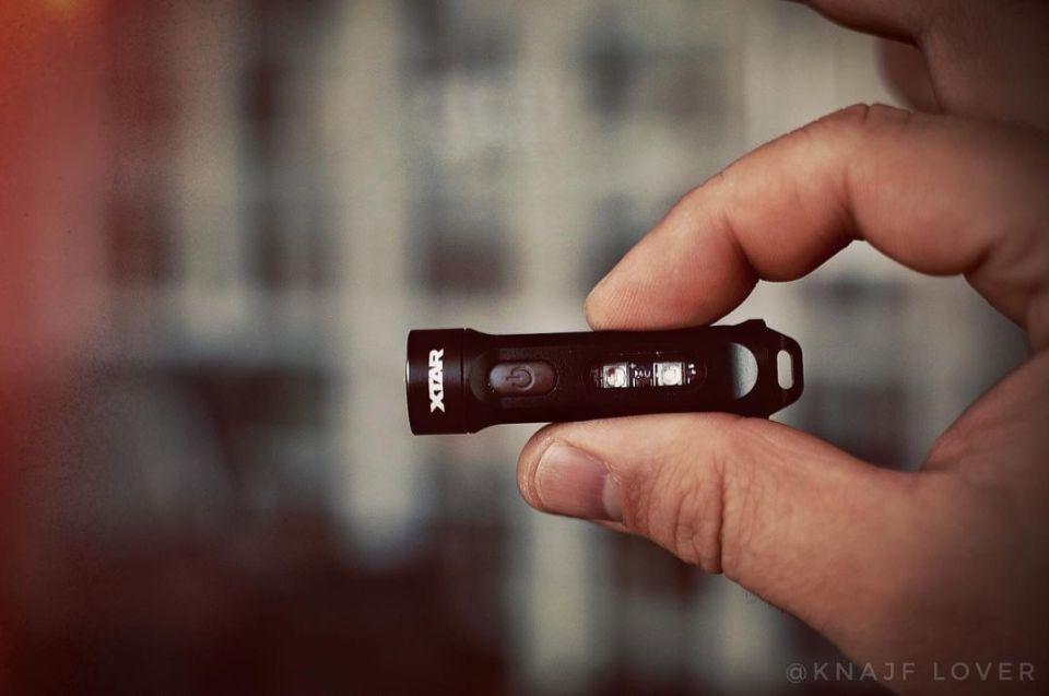 XTAR T1 usb c charging keychain light with UV