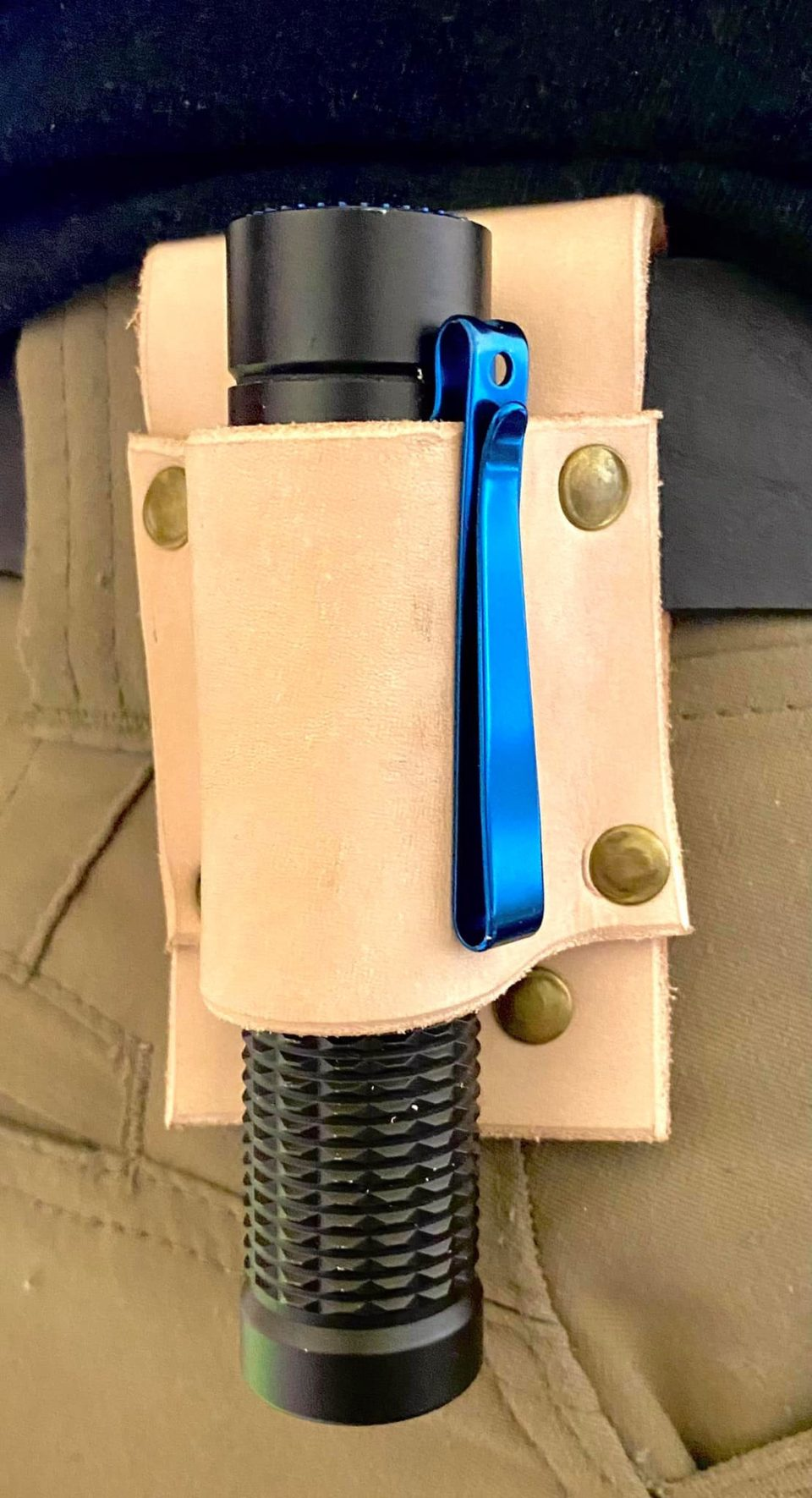 Olight flashlight leather pouch sheathe
