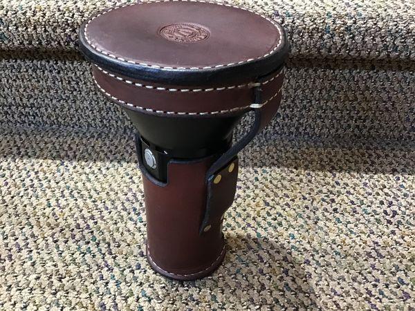 Rick Brady leather carrier for Thrunite flashlight