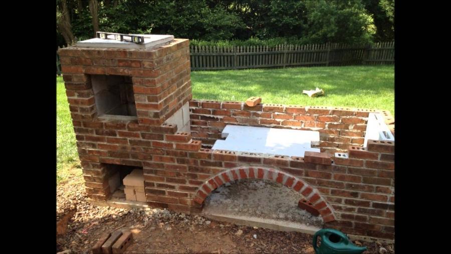 Building A Brick Barbecue Photos