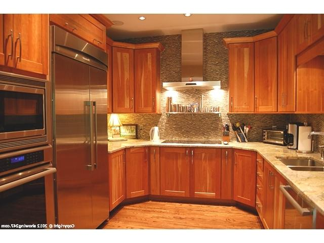 Natural cherry cabinets photos