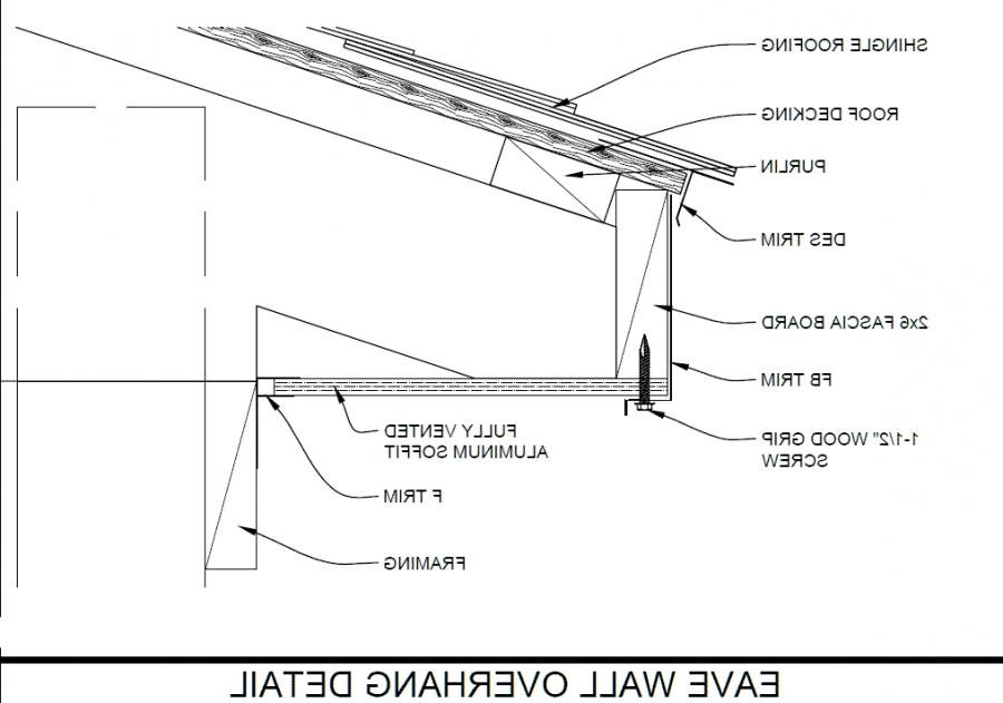 Photo of roof eave