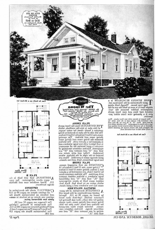 112 1910 book bungalow floor house photo plan
