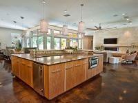 Open living room kitchen photos