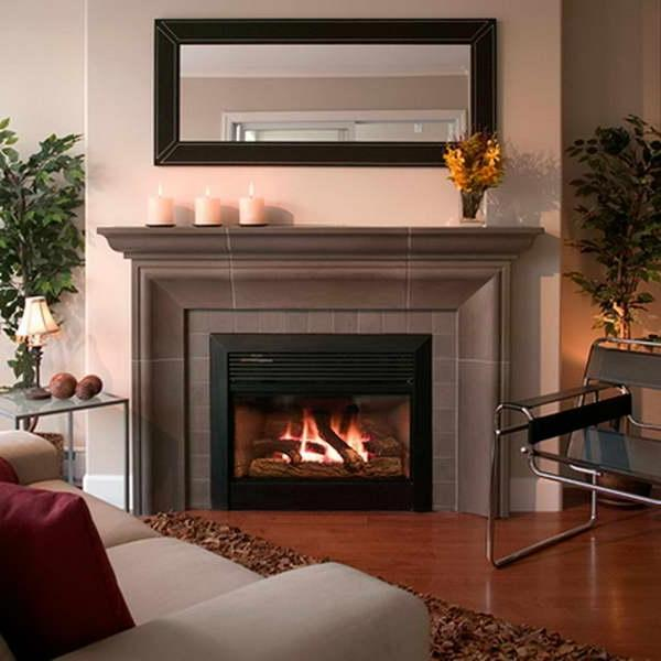 Decorating fireplace with candles photos