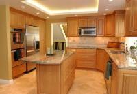 Natural cherry kitchen cabinets photos