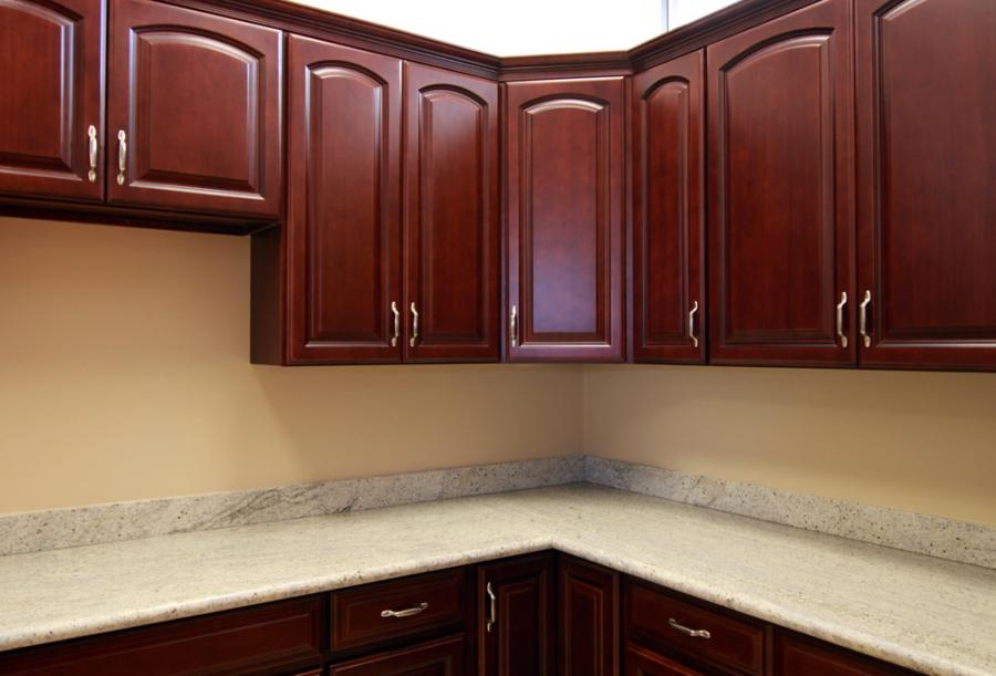 red cherry cabinets kitchen spice racks cabinet hardware photos
