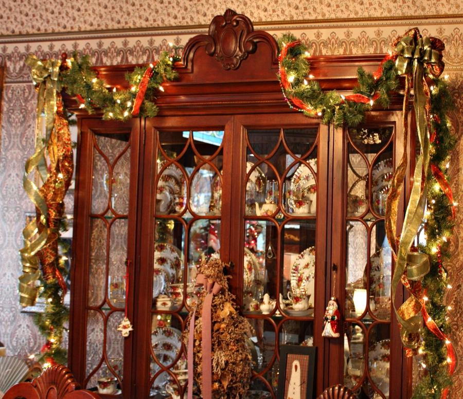 Photos of decorated china cabinets