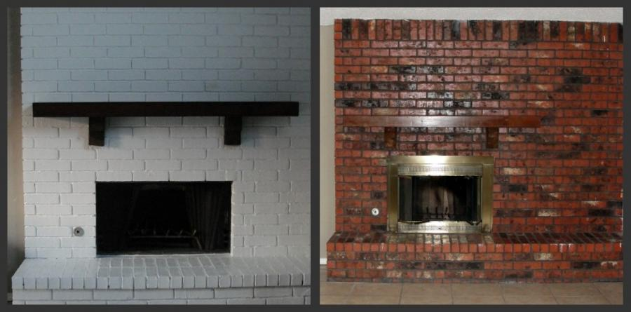 ideas for painting my living room shelving brick fireplace before after photos