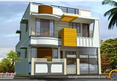Double Storied Tamilnadu House Design Home Kerala Plans