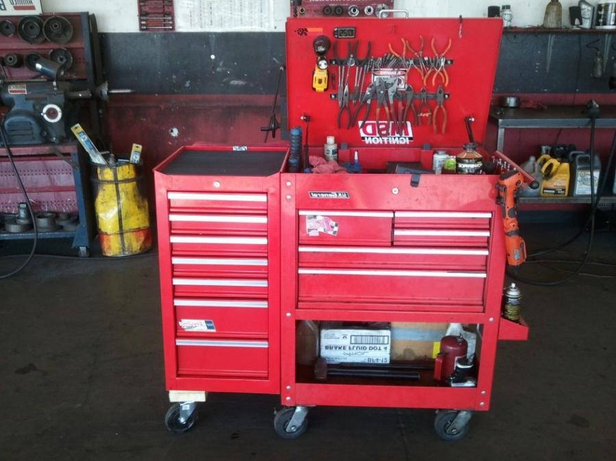 Photo cabinets and tool boxes