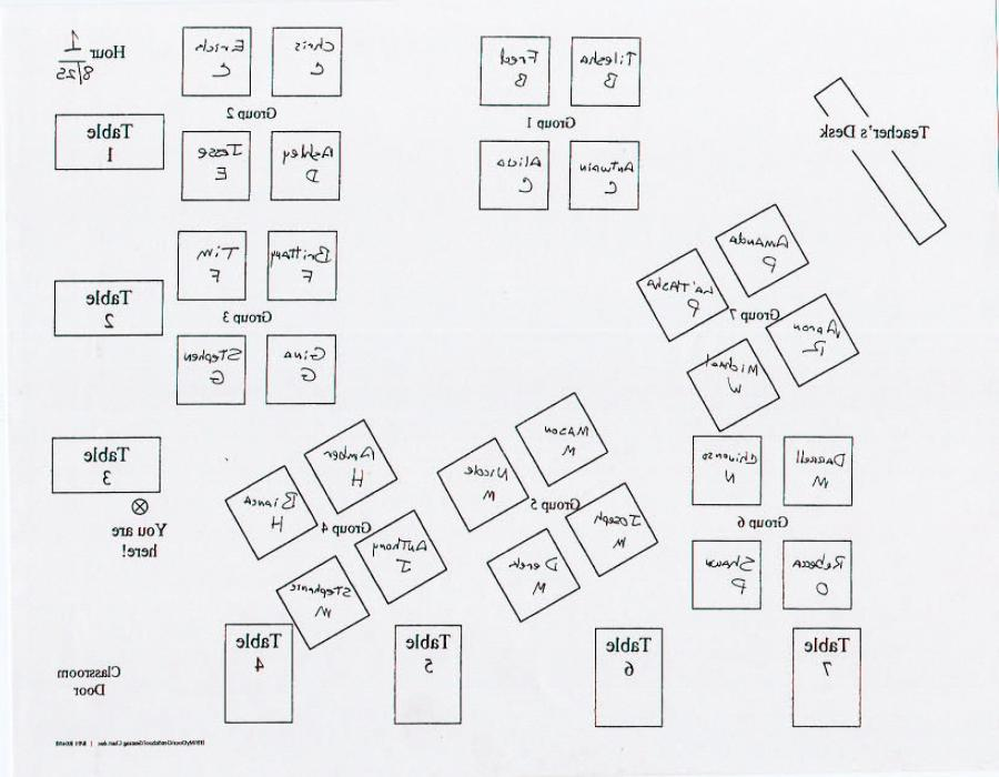 Classroom seating chart with photos