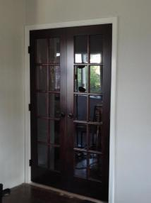 Stained Door White Trim