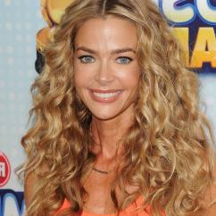 Red And Yellow Kitchen Curtains Porcelain Tile Floor Denise Richards House Photos