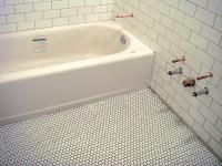 Penny round tile bathroom photos