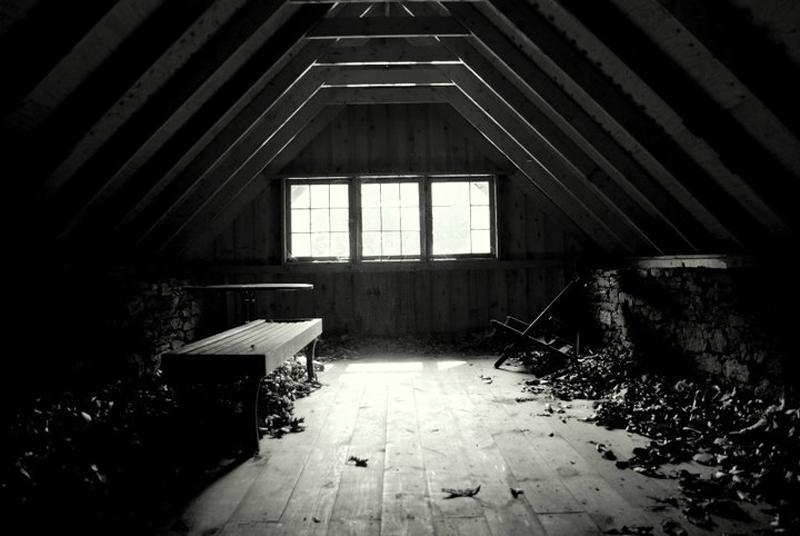 Scary attic photos