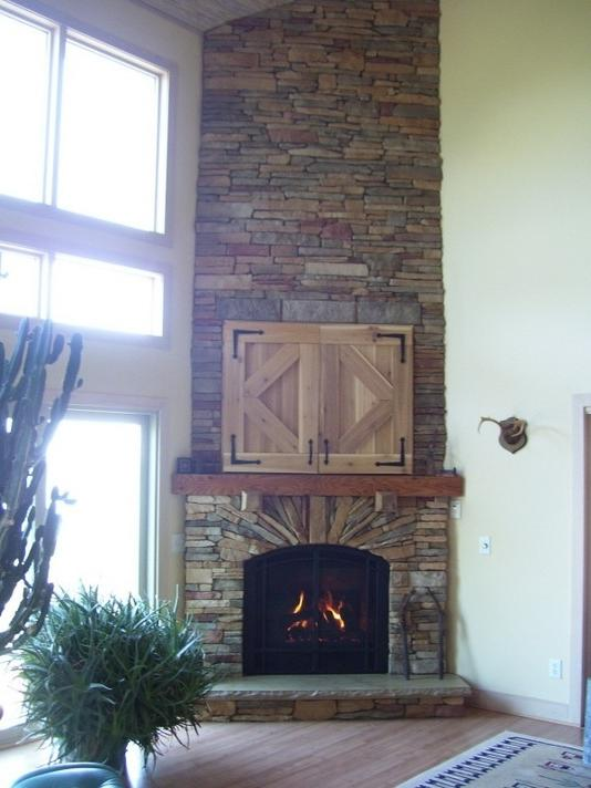 Corner stone fireplaces photos