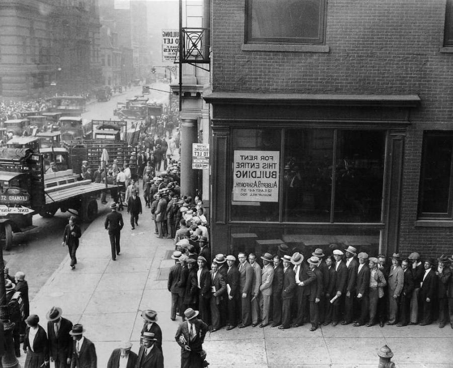 Soup kitchen photos 1930