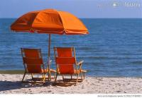 Beach chair and ocean photography